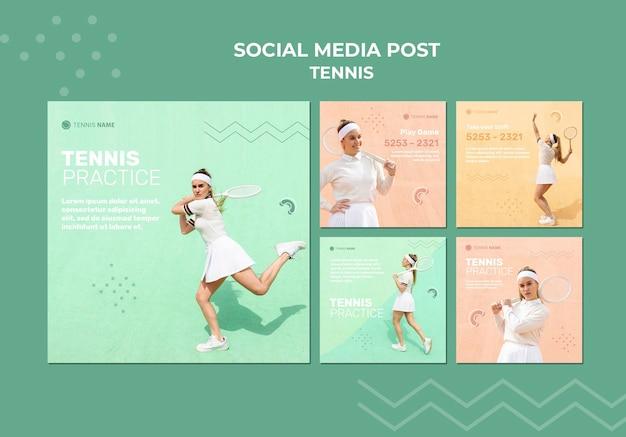Tennis üben social media post Kostenlosen PSD