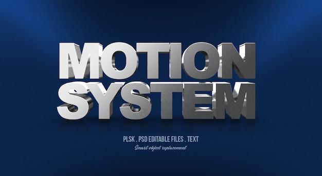 Text-arteffekt des bewegungs-systems 3d Premium PSD