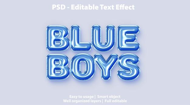 Text-effekt blue boys vorlage Premium PSD