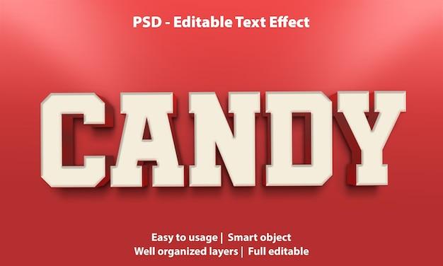 Text effekt candy vorlage Premium PSD