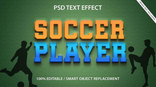 Text-effekt fußballspieler-vorlage Premium PSD