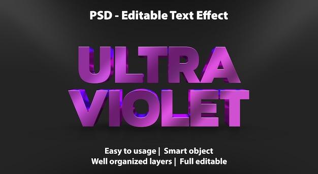 Text effekt ultraviolette vorlage Premium PSD