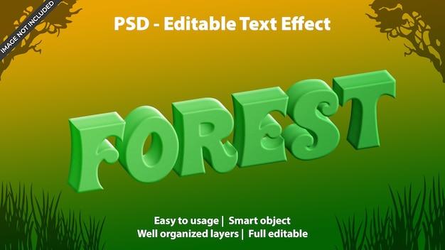 Text effekt waldvorlage Premium PSD