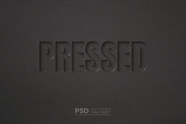 Texteffekt an der wand mit einer weichen texturschablone Premium PSD