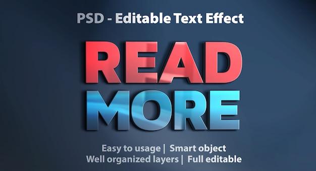Texteffekt lesen sie mehr vorlage Premium PSD