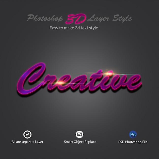 Texteffekte im 3d-photoshop-ebenenstil Premium PSD