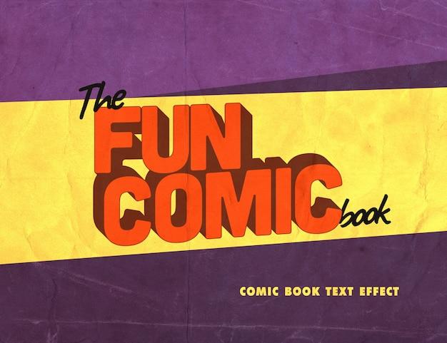 Textstil mit vintage-comic-effekt Premium PSD