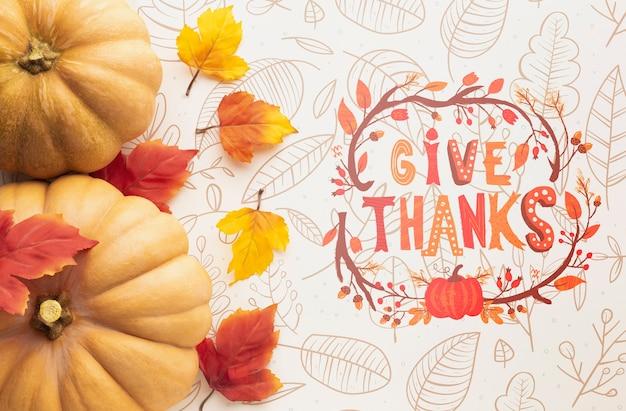 Thanksgiving day nachricht konzept Kostenlosen PSD