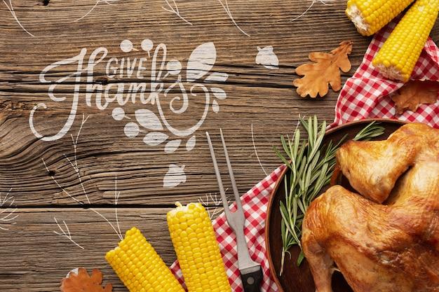 Thanksgiving leckeren truthahn gericht Kostenlosen PSD