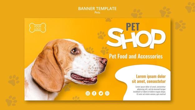 Tierhandlung banner vorlage mit foto Kostenlosen PSD