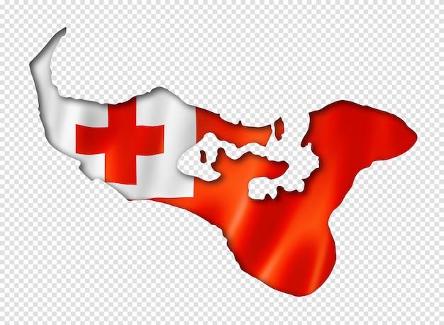 Tonga flaggenkarte Premium PSD