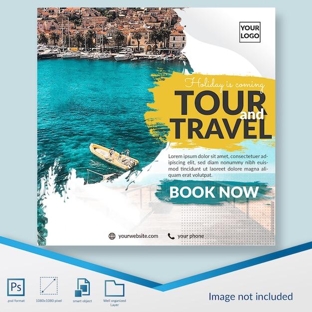 Tour und reisen sonderangebot vorlage banner Premium PSD