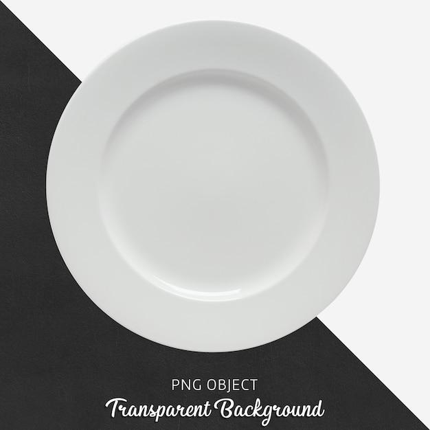 Transparente weiße keramik- oder porzellan-rundplatte Premium PSD