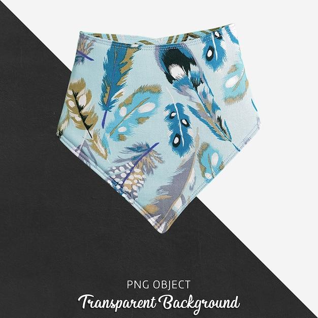 Transparenter blauer gefiederter baby bandana Premium PSD
