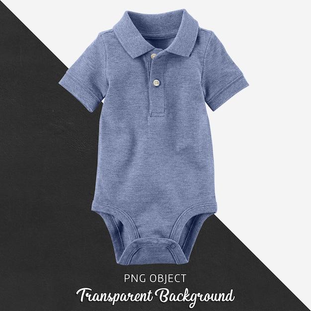 Transparenter, blauer polo-t-shirt-overall, body für baby oder kinder Premium PSD