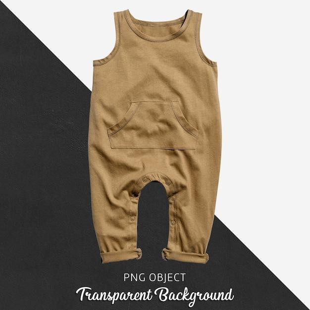 Transparenter brauner babyoverall oder -body Premium PSD