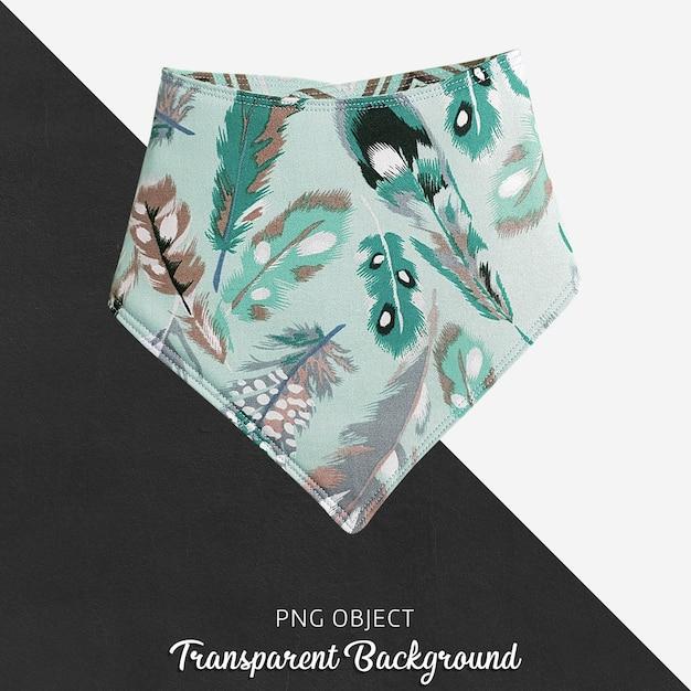 Transparenter grüner gefiederter gemusterter bandana für baby oder kinder Premium PSD