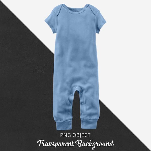 Transparenter hellblauer babyoverall oder -body Premium PSD