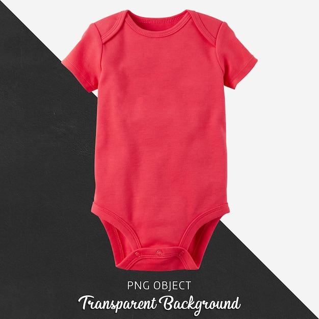 Transparenter roter body für baby oder kinder Premium PSD