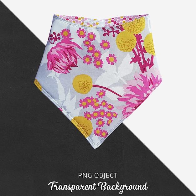 Transparentes buntes und mit blumenmuster baby bandana Premium PSD