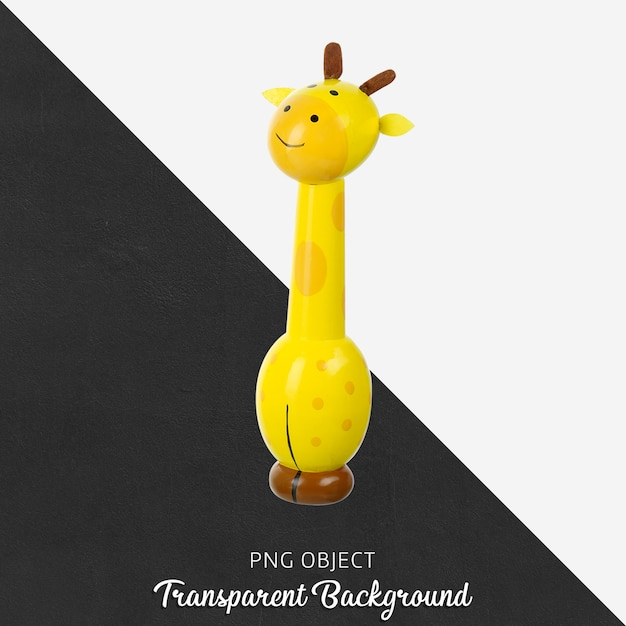 Transparentes hölzernes giraffenspielzeug Premium PSD