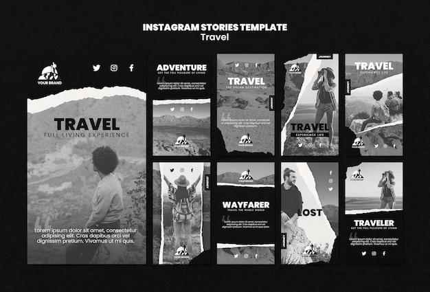 Travel instagram geschichten sammlung Kostenlosen PSD