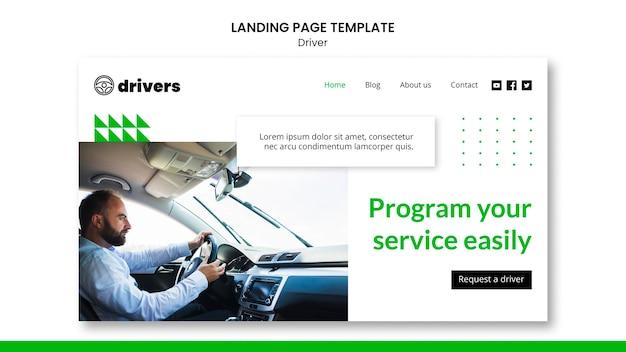 Treiber-landingpage Kostenlosen PSD