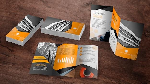 Trifold broschüre mock-up sammlung Kostenlosen PSD