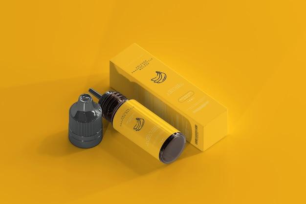 Tropfflasche und box mockup Kostenlosen PSD