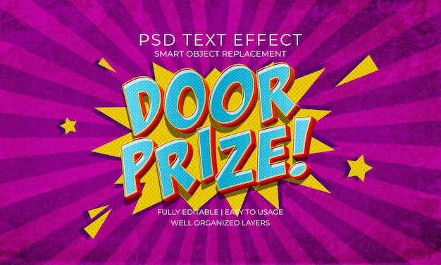 Türpreis-texteffektvorlage Premium PSD
