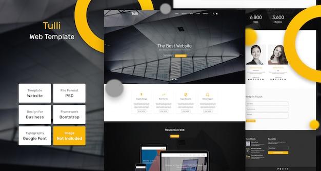 Tulli-webvorlage Premium PSD