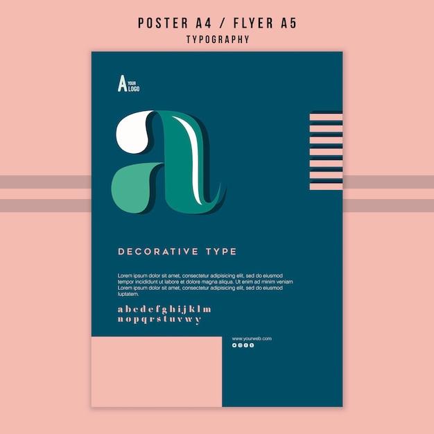 Typografie flyer vorlage Kostenlosen PSD