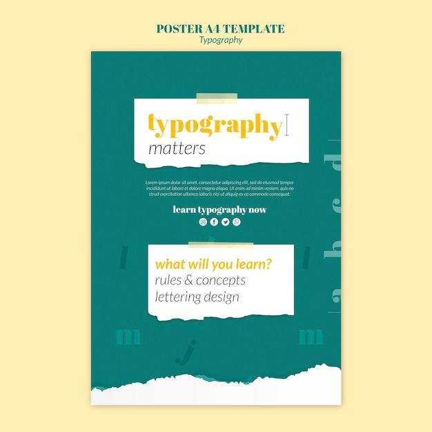 Typografie service poster vorlage Kostenlosen PSD