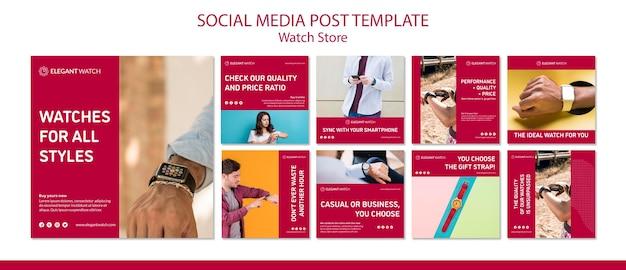 Uhren für alle stile social media vorlage Kostenlosen PSD