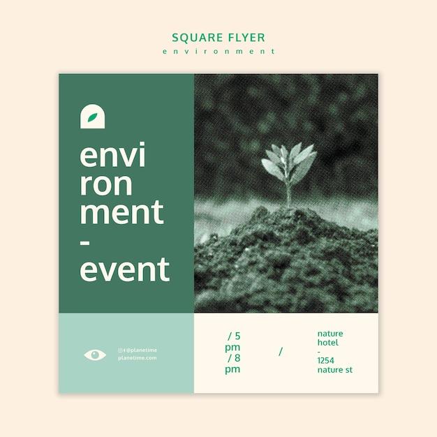 Umgebungsquadrat-flyer-konzeptschablone Kostenlosen PSD