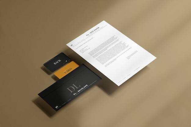 Umschlag mit briefkopfmodell Kostenlosen PSD