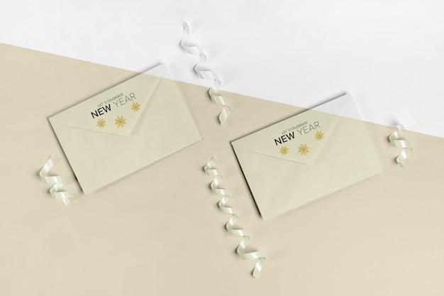 Umschlag mit einladungskartenmodell Kostenlosen PSD