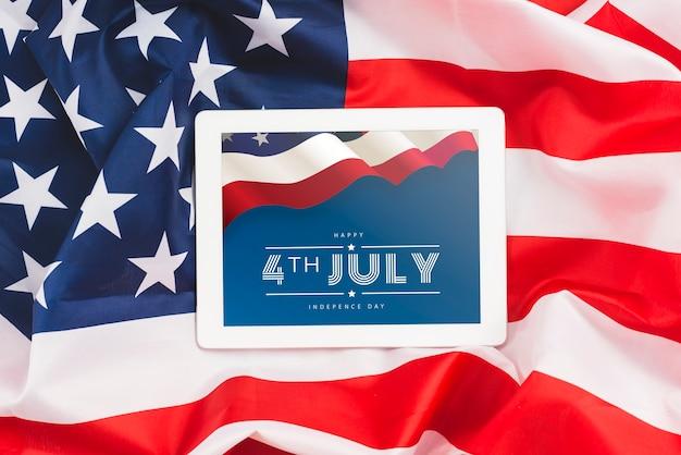 Unabhängigkeitstag in den vereinigten staaten von amerika. 4. juli Kostenlosen PSD