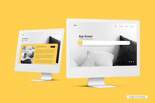 Unicolor desktop-bildschirmmodell Kostenlosen PSD