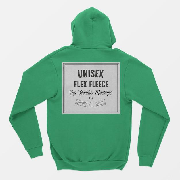 Unisex flex fleece zip hoodie modell Kostenlosen PSD