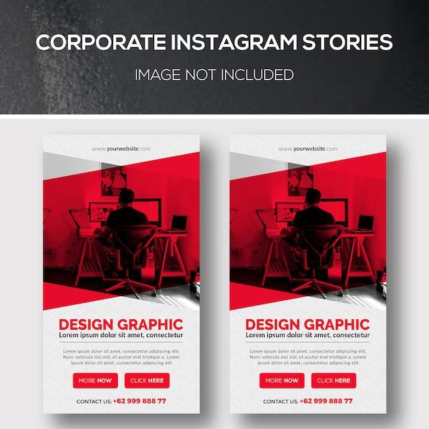 Unternehmens-instagram-geschichten Premium PSD