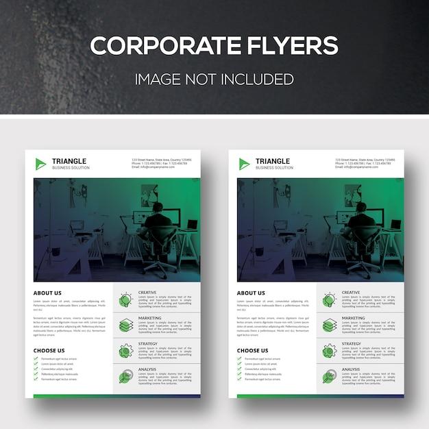 Unternehmensflyer Premium PSD