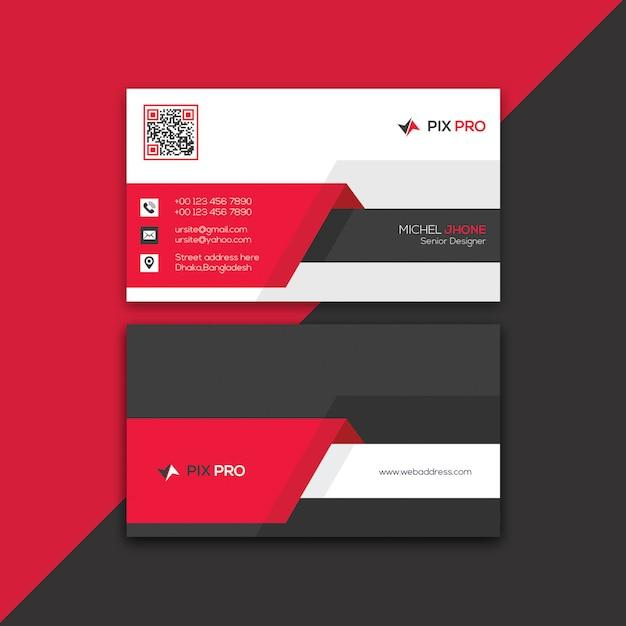 Unternehmensvisitenkarte-schablone Premium PSD