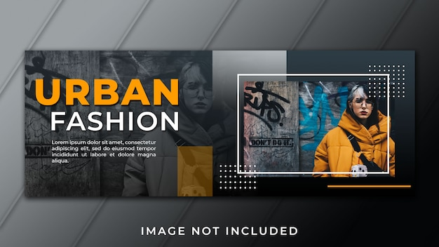 Urban fashion facebook vorlage Premium PSD