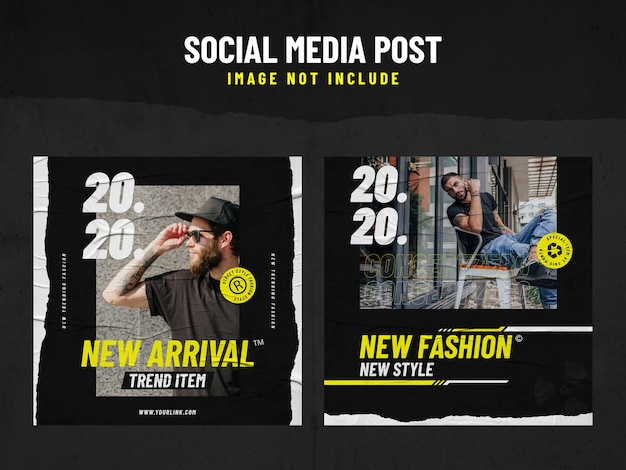 Urban fashion social media beitragsvorlage Premium PSD