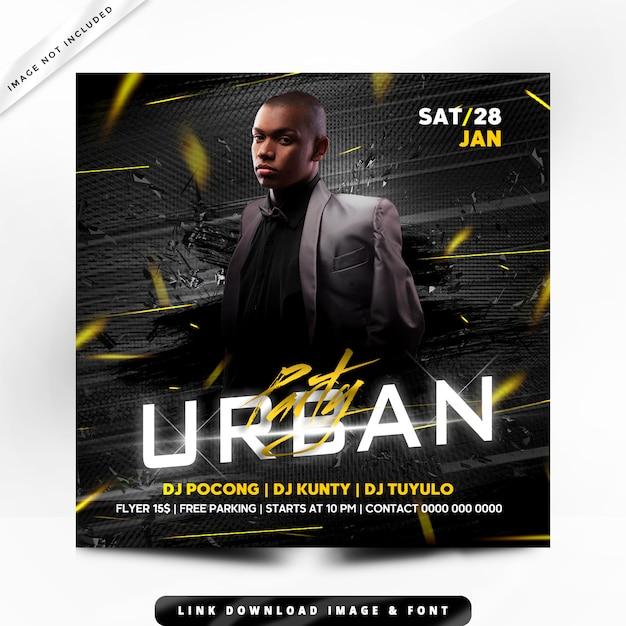 Urban premium poster Premium PSD