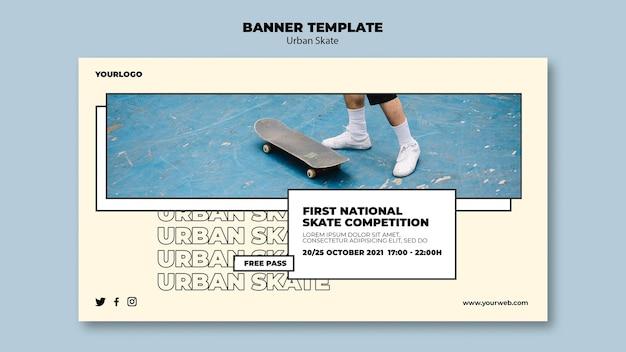 Urban skate konzept banner vorlage Kostenlosen PSD
