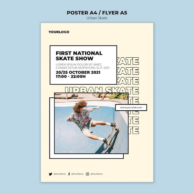 Urban skate konzept flyer vorlage Kostenlosen PSD