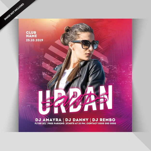 Urban sounds partyflyer Premium PSD