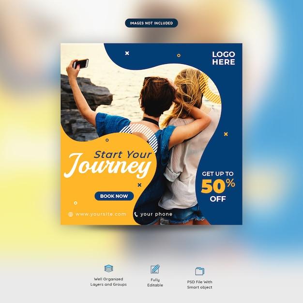 Urlaub zusammen reisen social media beitragsvorlage premium Premium PSD